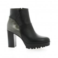 Mally Boots cuir noir/bronze