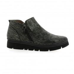 XSA Boots cuir laminé noir