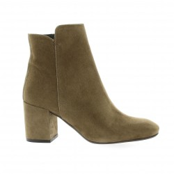Pao Boots cuir velours taupe