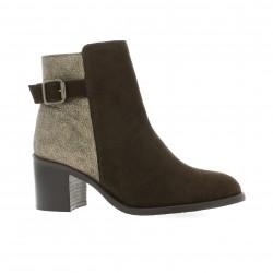 Impact Boots velours lamine marron
