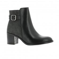 Impact Boots cuir laminé noir
