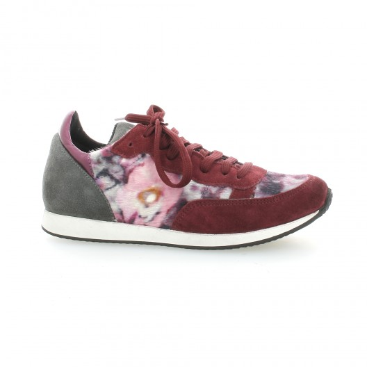 cuir basket modèle Fur Ippon velours Run Vintage bordeaux E4xCCqwFf