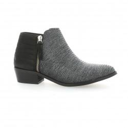 Reqins Boots cuir laminé gris