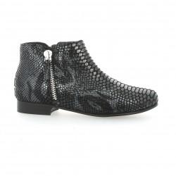 Reqins Boots cuir python noir