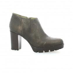 Life Boots cuir serpent bronze