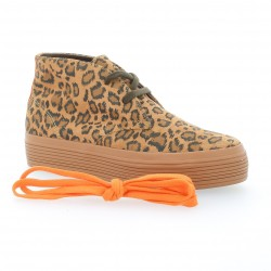 Baskets cuir velours leopard Urban walk