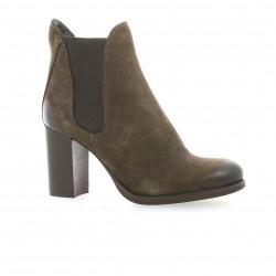 Nuova riviera Boots cuir nubuck marron