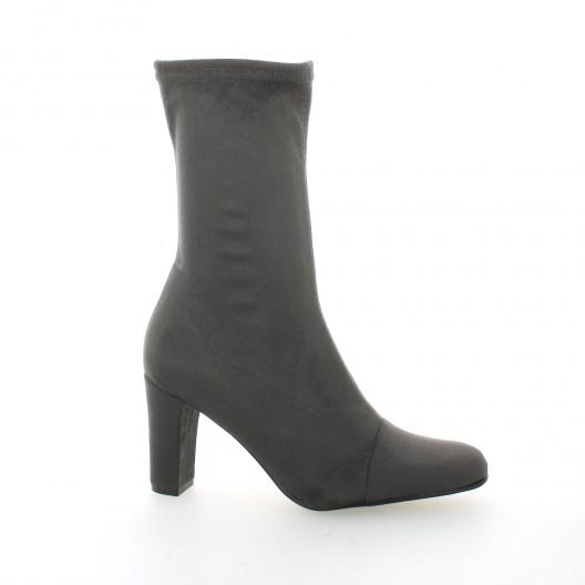 Elizabeth stuart Boots cuir velours gris