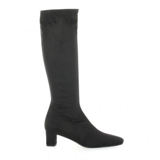 bottes stretch velours noir elizabeth stuart mod le erel. Black Bedroom Furniture Sets. Home Design Ideas