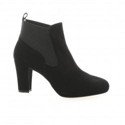 Brenda zaro Boots cuir velours noir