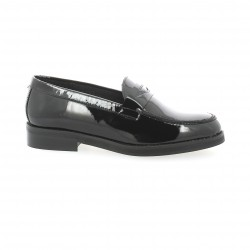We do Mocassins cuir vernis noir