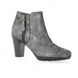 Boots cuir laminé acier Anyo