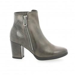 Cafe noir Boots cuir gris