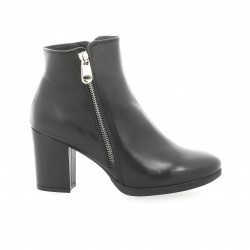 Cafe noir Boots cuir noir