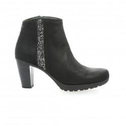 Reqins Boots cuir long noir