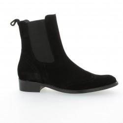 Boots cuir velours noir Vidi studio