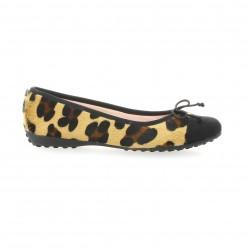 Exit Ballerines cuir poulain leopard