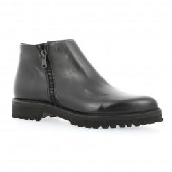 Boots cuir noir Exit