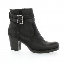 Boots cuir nubuck noir pao