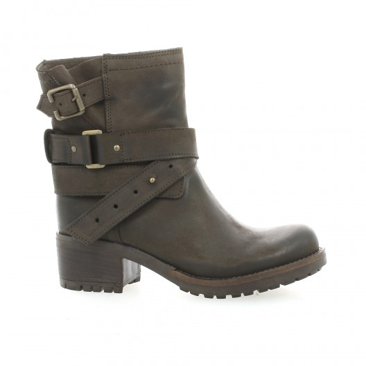 Pao Boots cuir nubuck marron