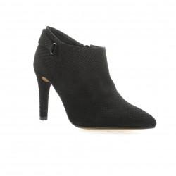 Exit Boots cuir croco noir