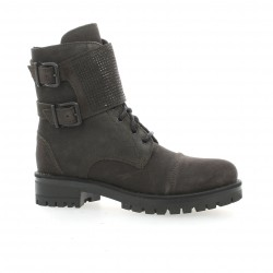 Exit Boots cuir velours anthracite
