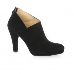 Vidi studio Low boots cuir velours noir