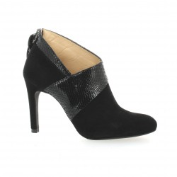 Vidi studio Low boots cuir serpent noir