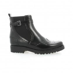 Reqins Boots cuir glacé noir