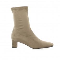 Elizabeth stuart Boots stretch velours taupe