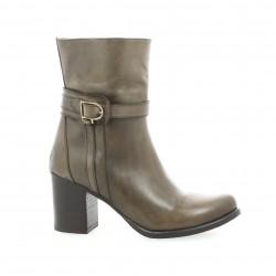 Boots cuir taupe Elizabeth stuart