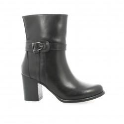 Boots cuir noir Elizabeth stuart