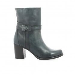 Boots cuir marine Elizabeth stuart