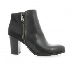 Pao Boots cuir poulain noir