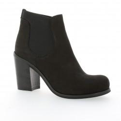 Boots cuir nubuck noir Nuova riviera