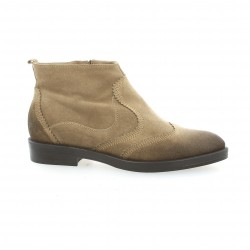 Donna piu Boots cuir velours taupe