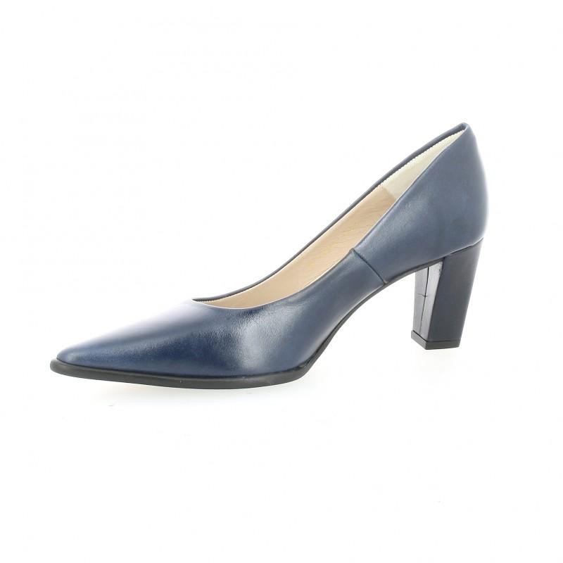 marque célèbre 2019 original nouvelle collection Escarpins cuir bleu marine Brenda Zaro chaussures F1204