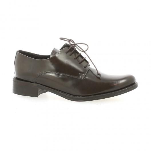 Elizabeth Stuart Derby cuir glacé Marron - Chaussures Derbies Femme