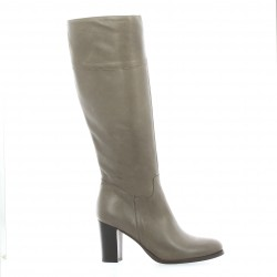 Pao Bottes cuir taupe