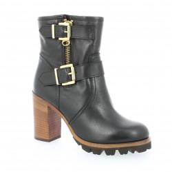 Boots cuir noir Alvino