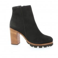 Boots cuir nubuck noir Alvino
