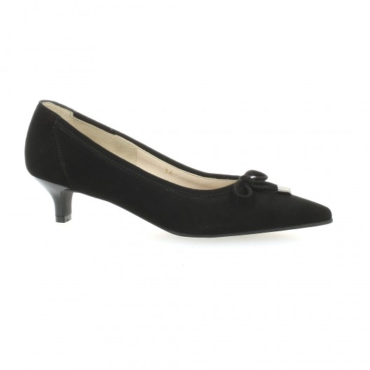 f36bb86ce5da4 Escarpins cuir velours noir Vidi Studio chaussures Timbre