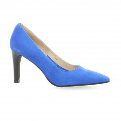 Vidi studio Escarpins cuir velours bleu