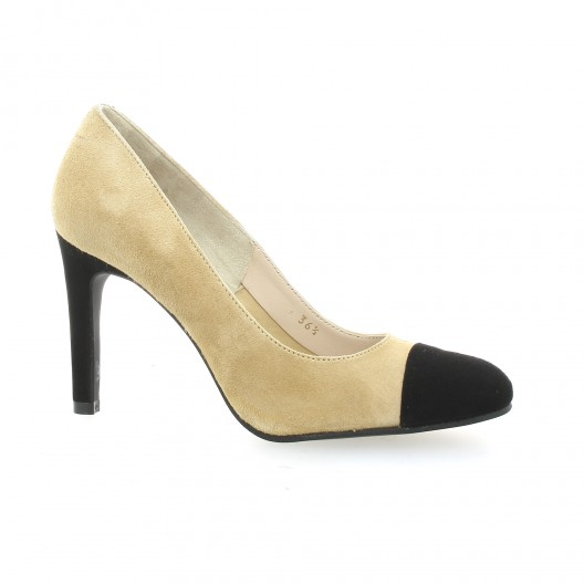 Vidi Studio Escarpins cuir velours Camel - Chaussures Escarpins Femme