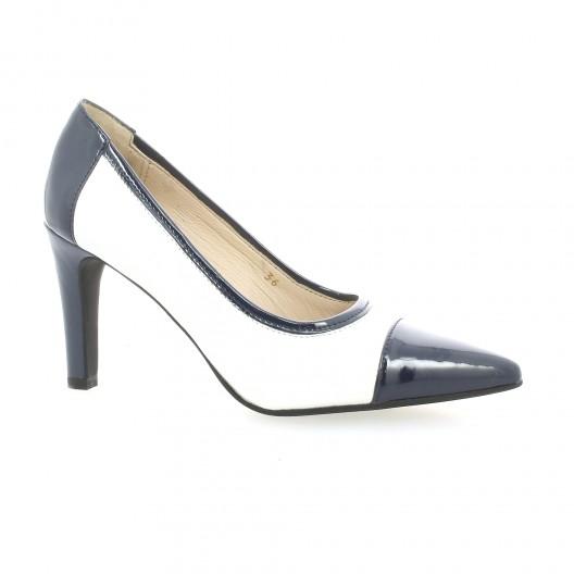 b3cb823b96c40b Escarpins cuir vernis blanc Vidi Studio chaussures Tictac