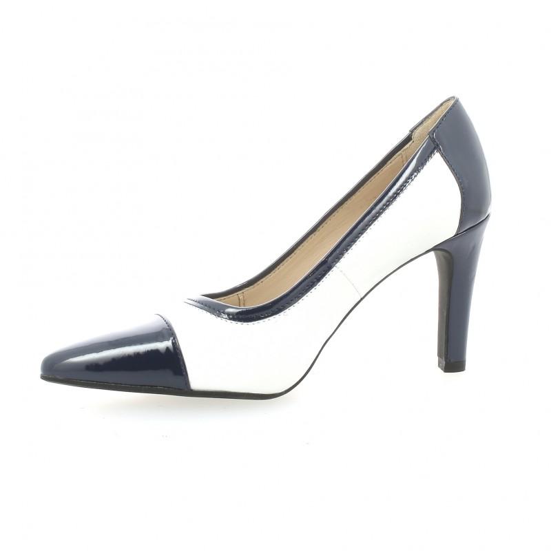 ab333f6b32d3a7 Escarpins cuir vernis blanc Vidi Studio chaussures Tictac