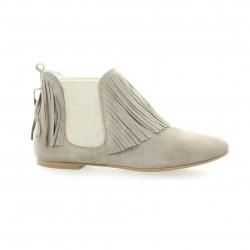 Ippon vintage Boots cuir velours gris