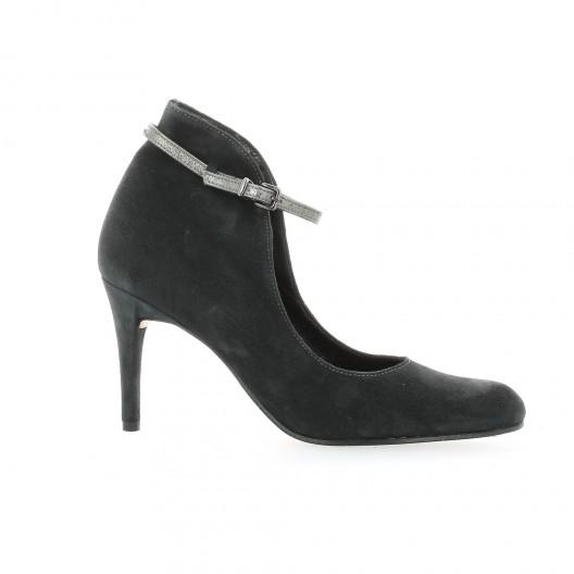 Elizabeth Stuart Escarpins cuir velours Anthracite - Chaussures Escarpins Femme