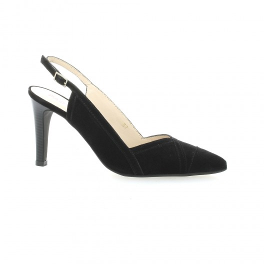 79c4074e9ff1d Vidi Studio escarpins cuir velours noir chaussure Bipop