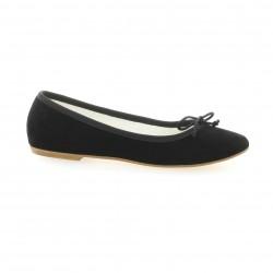 Versilia Ballerines cuir velours noir